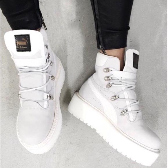 pretty nice 5a46e f8983 Rihanna FENTY PUMA White sneaker boot. Size 8 W